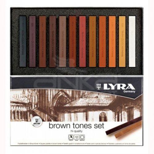 Lyra Kahve Tonlar Soft - Toz Pastel Boya Seti 12 Renk 5641121