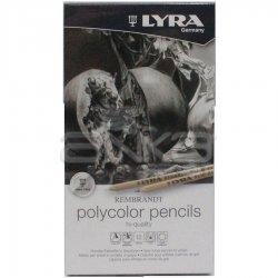 Lyra Rembrandt Polycolor Kuru Boya Kalemi 12li Set Gri Tonlar - Thumbnail