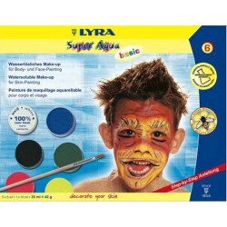 Lyra - Lyra Super Aqua Basic Fırçalı Tablet Yüz Boyası 6 Renk