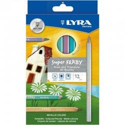 Lyra - Lyra Super Ferby Kuru Boya Kalemi Metalik 12 Renk L3721122