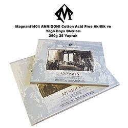 Magnani1404 - Magnani1404 ANNIGONI Cotton Acid Free Akrilik ve Yağlı Boya Blokları 250g 25 Yaprak