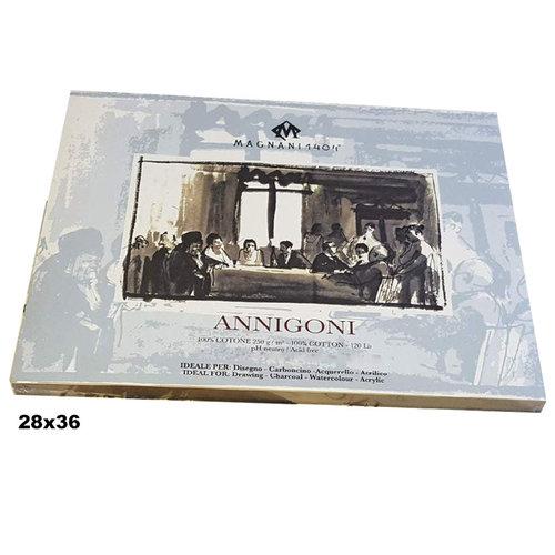 Magnani1404 ANNIGONI Cotton Acid Free Akrilik ve Yağlı Boya Blokları 250g 25 Yaprak