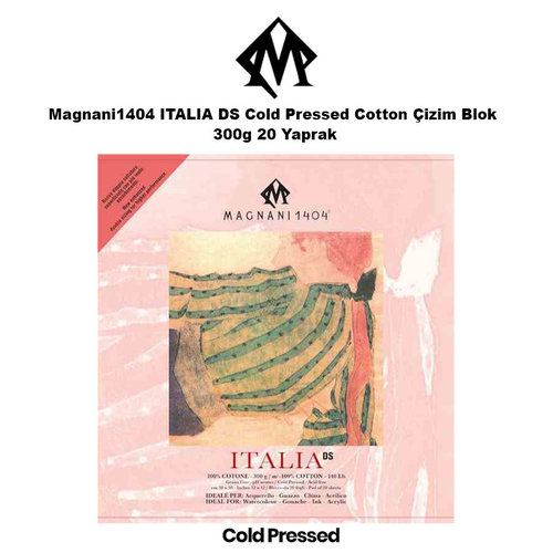 Magnani1404 ITALIA DS Cold Pressed Cotton Çizim Blok 300g 20 Yaprak