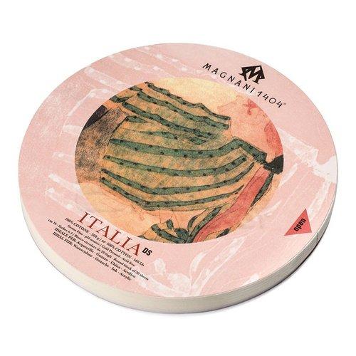 Magnani1404 ITALIA DS Cold Pressed Cotton Çizim Blok 300g 20 Yaprak 32 Çap Daire