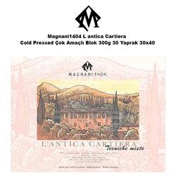 Magnani1404 - Magnani1404 L antica Cartiera Cold Pressed Çok Amaçlı Blok 300g 30 Yaprak 30x40