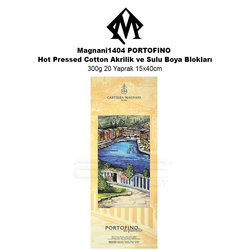 Magnani1404 PORTOFINO Hot Pressed Cotton Akrilik ve Sulu Boya Blokları 300g 20 Yaprak 15x40cm - Thumbnail