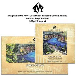 Magnani1404 - Magnani1404 PORTOFINO Hot Pressed Cotton Akrilik ve Sulu Boya Blokları 300g 20 Yaprak