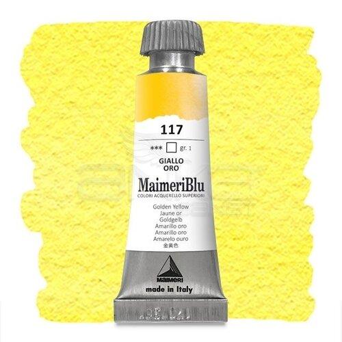 Maimeri Blu Tüp Sulu Boya 12 ml S1 No:117 Golden Yellow
