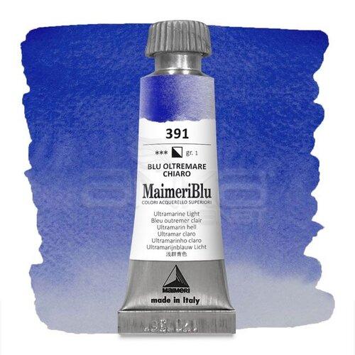 Maimeri Blu Tüp Sulu Boya 12 ml S1 No:391 Ultramarine Light