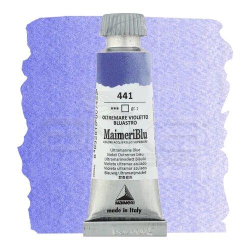 Maimeri Blu Tüp Sulu Boya 12 ml S1 No:441 Ultramarine Blue