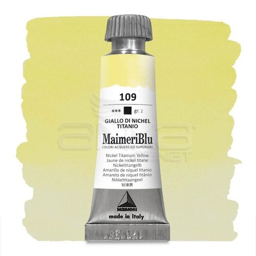 Maimeri Blu Tüp Sulu Boya 12 ml S2 No:109 Nickel Titanate Yellow