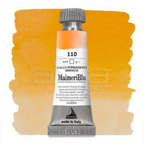 Maimeri Blu Tüp Sulu Boya 12 ml S2 No:110 Permanent Yellow Orange