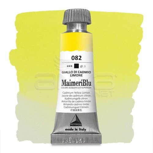 Maimeri Blu Tüp Sulu Boya 12 ml S3 No:082 Cadmium Yellow Lemon