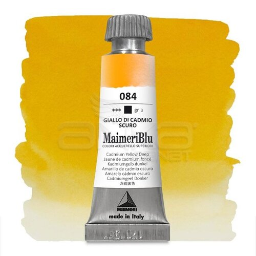 Maimeri Blu Tüp Sulu Boya 12 ml S3 No:084 Cadmium Yellow Deep