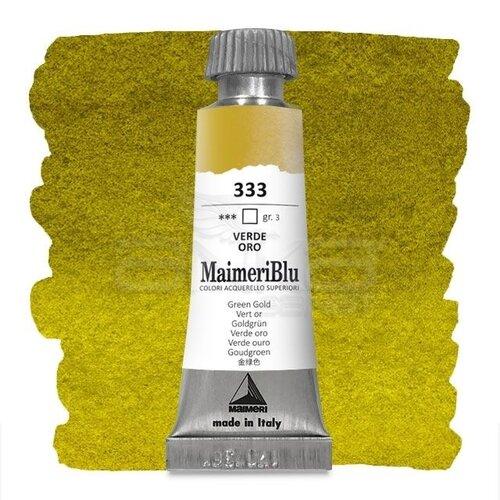 Maimeri Blu Tüp Sulu Boya 12 ml S3 No:333 Green Gold