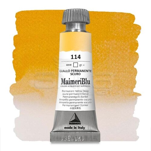 Maimeri Blu Tüp Sulu Boya 12 ml S4 No:114 Permanent Yellow Deep