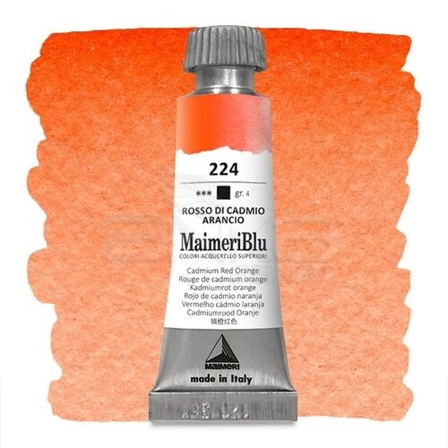 Maimeri Blu Tüp Sulu Boya 12 ml S4 No:224 Cadmium Red Orange