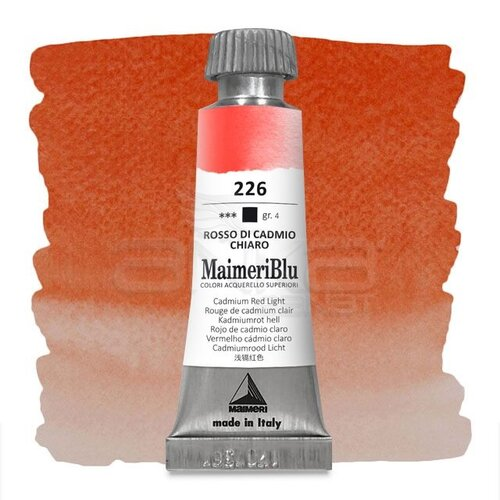 Maimeri Blu Tüp Sulu Boya 12 ml S4 No:226 Cadmium Red Light