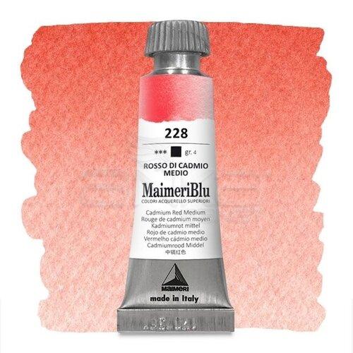 Maimeri Blu Tüp Sulu Boya 12 ml S4 No:228 Cadmium Red Medium