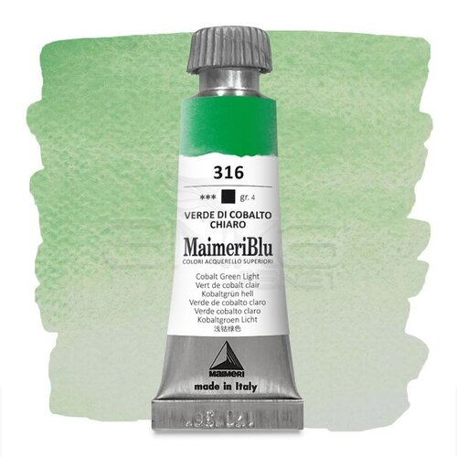 Maimeri Blu Tüp Sulu Boya 12 ml S4 No:316 Cobalt Green Light