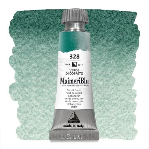 Maimeri Blu Tüp Sulu Boya 12 ml S4 No:328 Cobalt Green