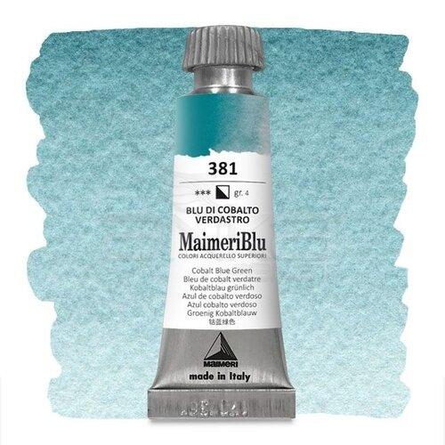 Maimeri Blu Tüp Sulu Boya 12 ml S4 No:381 Cobalt Blue Green