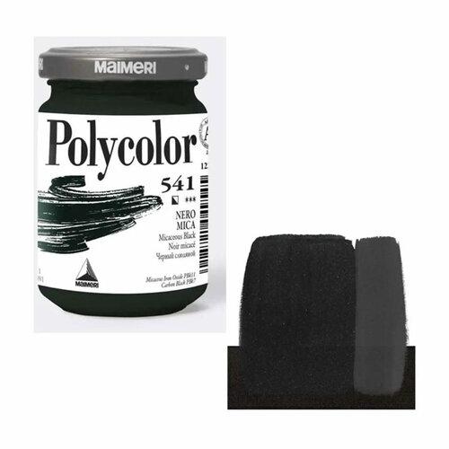 Maimeri Polycolor Akrilik Boya 140ml Micaceous Black 541 - 541 Micaceous Black