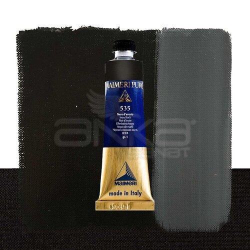 Maimeri Puro Yağlı Boya 40ml Seri 1 535 Ivory Black