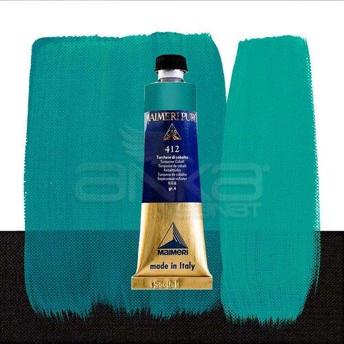 Maimeri Puro Yağlı Boya 40ml Seri 4 412 Turquoise Cobalt