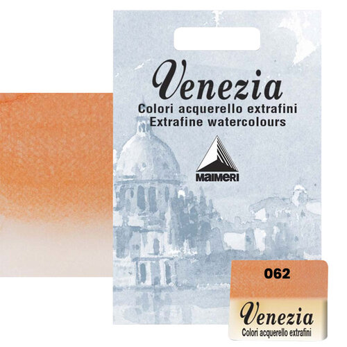 Maimeri Venezia Yarım Tablet Sulu Boya No:062 Permanent Orange - 062 Permanent Orange