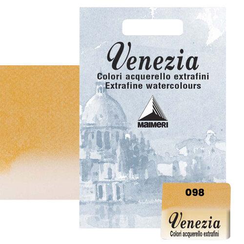 Maimeri Venezia Yarım Tablet Sulu Boya No:098 Indian Yellow - 098 Indian Yellow