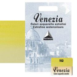 Maimeri - Maimeri Venezia Yarım Tablet Sulu Boya No:112 Permanent Yellow Lemon