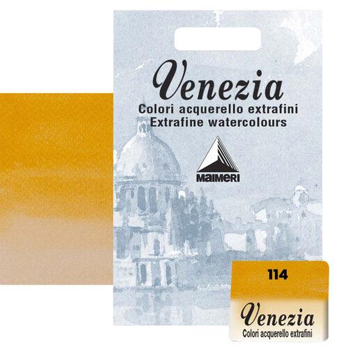 Maimeri Venezia Yarım Tablet Sulu Boya No:114 Permanent Yellow Deep - 114 Permanent Yellow Deep