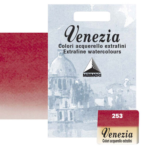 Maimeri Venezia Yarım Tablet Sulu Boya No:253 Permanent Red Deep