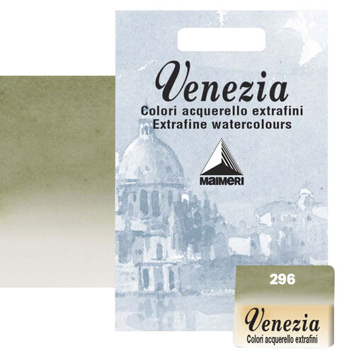 Maimeri Venezia Yarım Tablet Sulu Boya No:296 Green Earth - 296 Green Earth