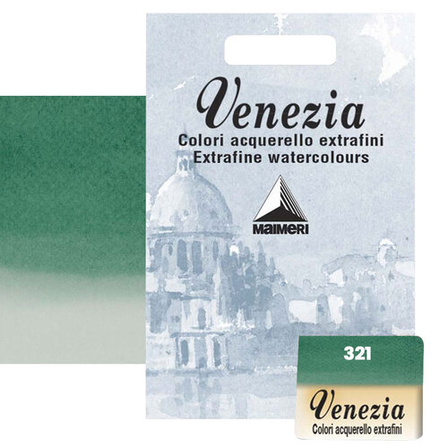 Maimeri Venezia Yarım Tablet Sulu Boya No:321 Phthalo Green