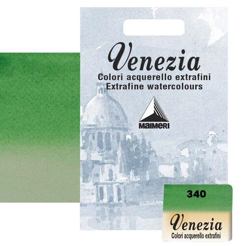Maimeri Venezia Yarım Tablet Sulu Boya No:340 Permanent Green Deep - 340 Permanent Green Deep