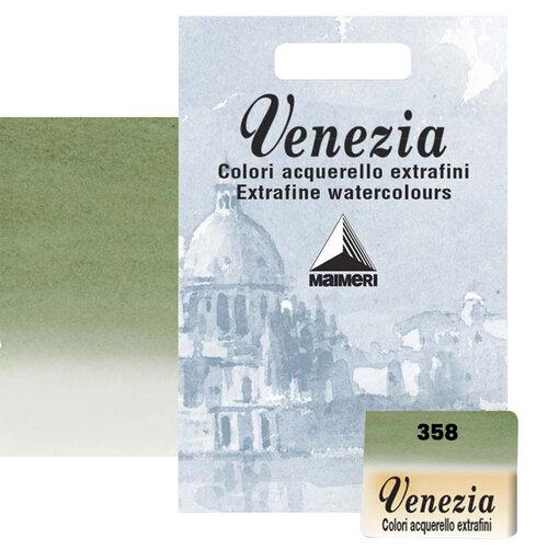 Maimeri Venezia Yarım Tablet Sulu Boya No:358 Sap Green - 358 Sap Green