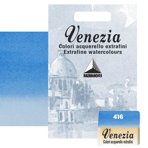 Maimeri Venezia Yarım Tablet Sulu Boya No:416 Cerulean - 416 Cerulean