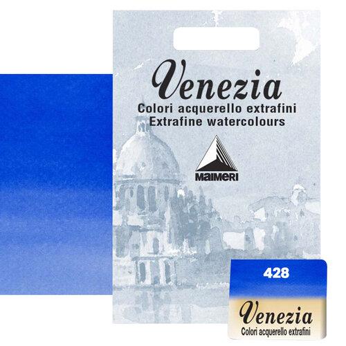 Maimeri Venezia Yarım Tablet Sulu Boya No:428 Sky Blue Ultramarine - 428 Sky Blue Ultramarine