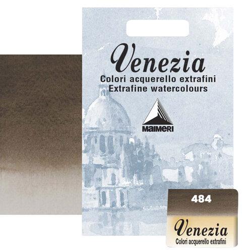 Maimeri Venezia Yarım Tablet Sulu Boya No:484 Vandyke Brown - 484 Vandyke Brown
