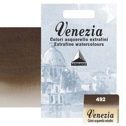 Maimeri - Maimeri Venezia Yarım Tablet Sulu Boya No:492 Burnt Umber