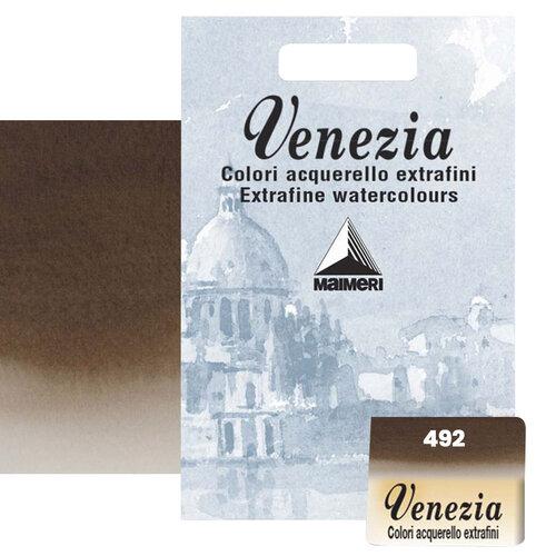Maimeri Venezia Yarım Tablet Sulu Boya No:492 Burnt Umber - 492 Burnt Umber