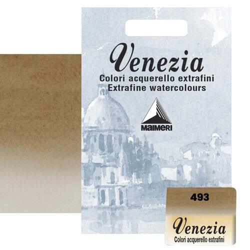 Maimeri Venezia Yarım Tablet Sulu Boya No:493 Raw Umber - 493 Raw Umber