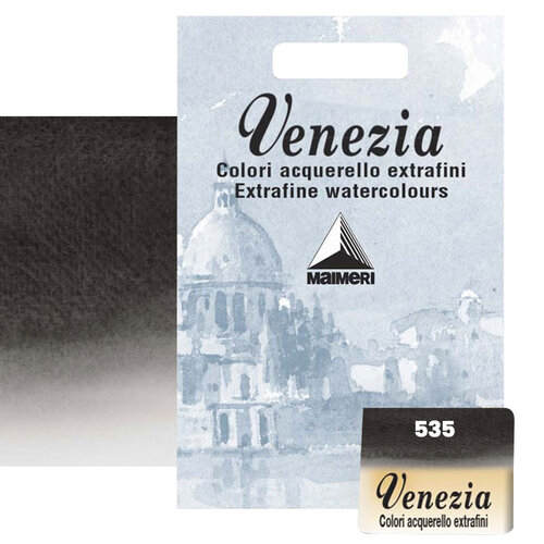 Maimeri Venezia Yarım Tablet Sulu Boya No:535 Ivory Black
