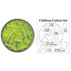 Makins Clay - Makin's Clay Kesici Kalıp Seti Çocuklar 7 Desen Kod:37007 (1)