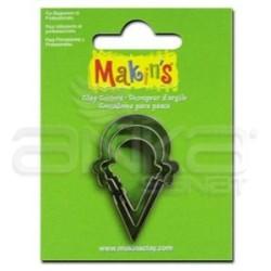 Makins Clay - Makin's Clay Kesici Kalıp Seti Dondurma Külahı 3 Parça Kod:36021 (1)