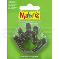 Makins Clay - Makin's Clay Kesici Kalıp Seti El 3 Parça Kod:36013 (1)