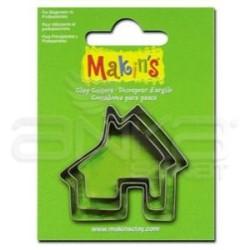 Makins Clay - Makin's Clay Kesici Kalıp Seti Ev 3 Parça Kod:36023