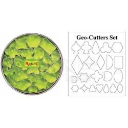 Makins Clay - Makin's Clay Kesici Kalıp Seti Geometrik 22 Desen Kod:37003 (1)
